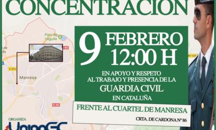 Apoyo y respeto al trabajo y presencia de la Guardia Civil en Cataluña