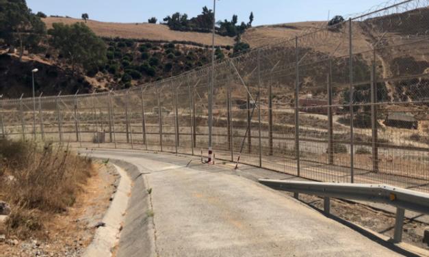 Visita a la frontera de Ceuta por parte de UnionGC, algunas asociaciones y sindicatos policiales