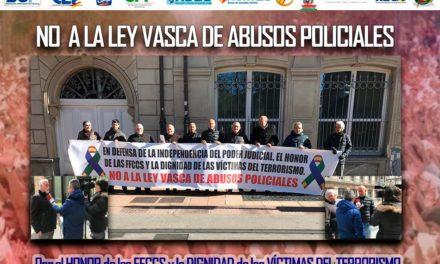 Concentración de asociaciones y sindicatos ante el Parlamento Vasco