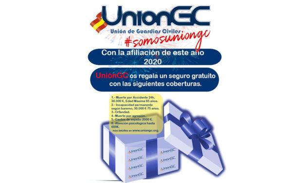 UnionGC obsequia a sus afiliados con un seguro gratuito