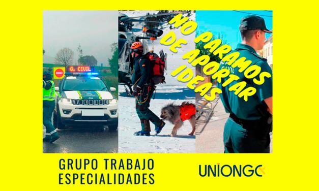 Resumen Grupo de Trabajo: Especialidades – UnionGC