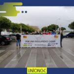 UnionGC, junto con la Unidad Intersindical, ha asistido a la caravana convocada por UGT Y CCOO