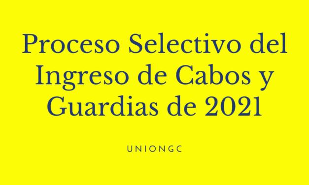 Proceso Selectivo del Ingreso de Cabos y Guardias de 2021
