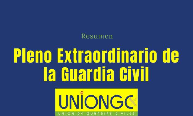 Resumen Pleno Extraordinario de la Guardia Civil
