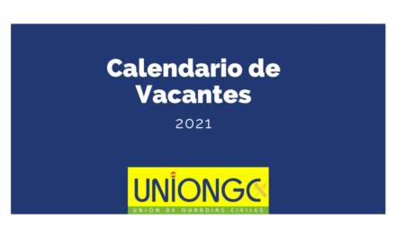 Nuevo calendario de vacantes para 2021