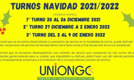 ¡Ya puedes saber los turnos de navidad de 2021/2022!